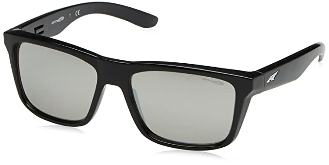 ARNETTE AN4217 - 41/6g SUNGLASSES GLOSS BLACK / SILVER ...