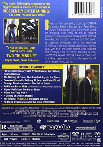 Enron: The Smartest Guys in the Room DVD Region 1 US Import NTSC ...