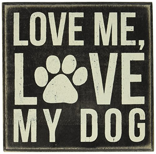 Primitives by Kathy Box Sign, 5-Inch by 5-Inch, My Dog - Bird Dog Sign