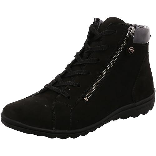 HartjesXs Casual - Zapatos Altos clásicos de Cordones y Botines con Forro Grueso Mujer, Color Negro, Talla 4.5: Amazon.es: Zapatos y complementos