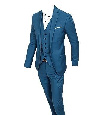 the latest 78a9a b3c4d O.D.W Herren Business Anzug 3-Teilig Slim Fit für Hochzeit ...
