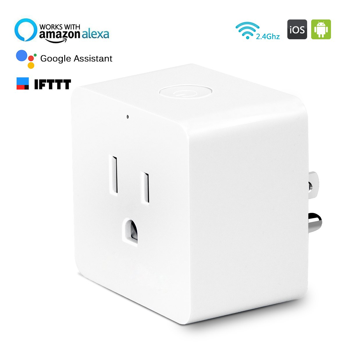 Smart Plug Mini Outlet Switch No Hub Required Competible with Alexa Google Assistant, HLT Wifi Smart Plug Control from Anywhere