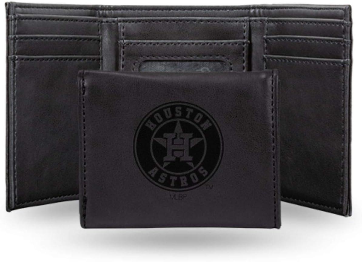 Rico Industries Astros Laser Engraved Brown Billfold Wallet