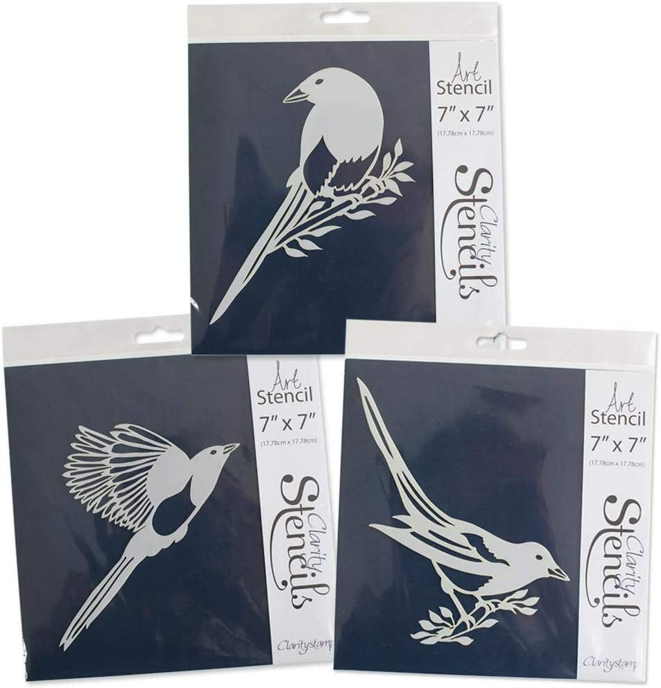 """Magpies 7"""" x 7"""" Stencil Trio"""