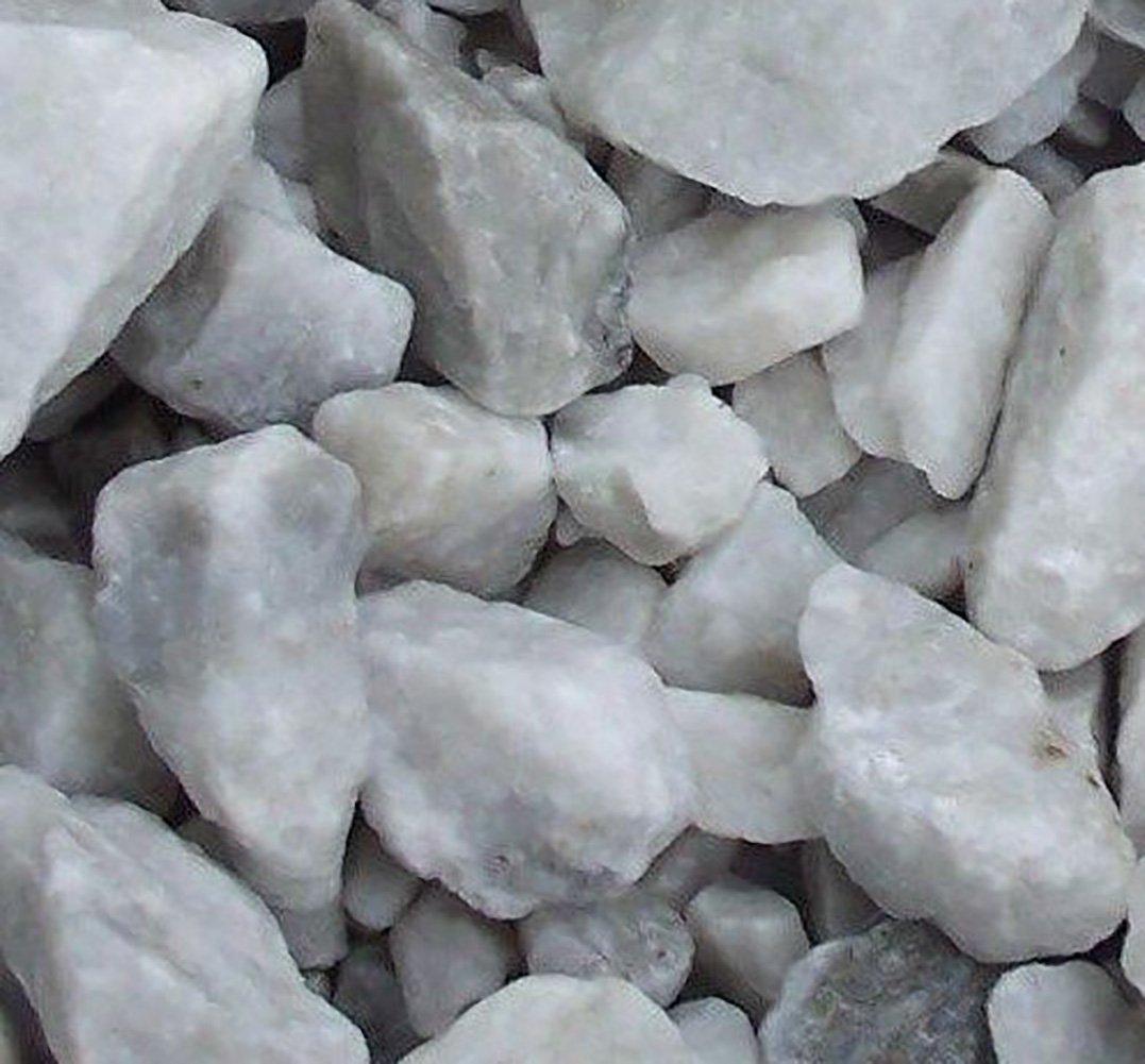 Safe & Non-Toxic {Various Sizes} 29 Pound Bag of Prewashed Marble Gravel, Rocks, Stones & Pebbles Decor for Freshwater & Saltwater Aquarium w/ Natural Opaque Earthy Modern Edgy Style [Gray & White]