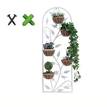 Du Hui Eisenkunst Wandmontierter Blumenständer, Continental Multilayer  Blumenkastenständer, Innendekoration An Der Wand Blumenständer (