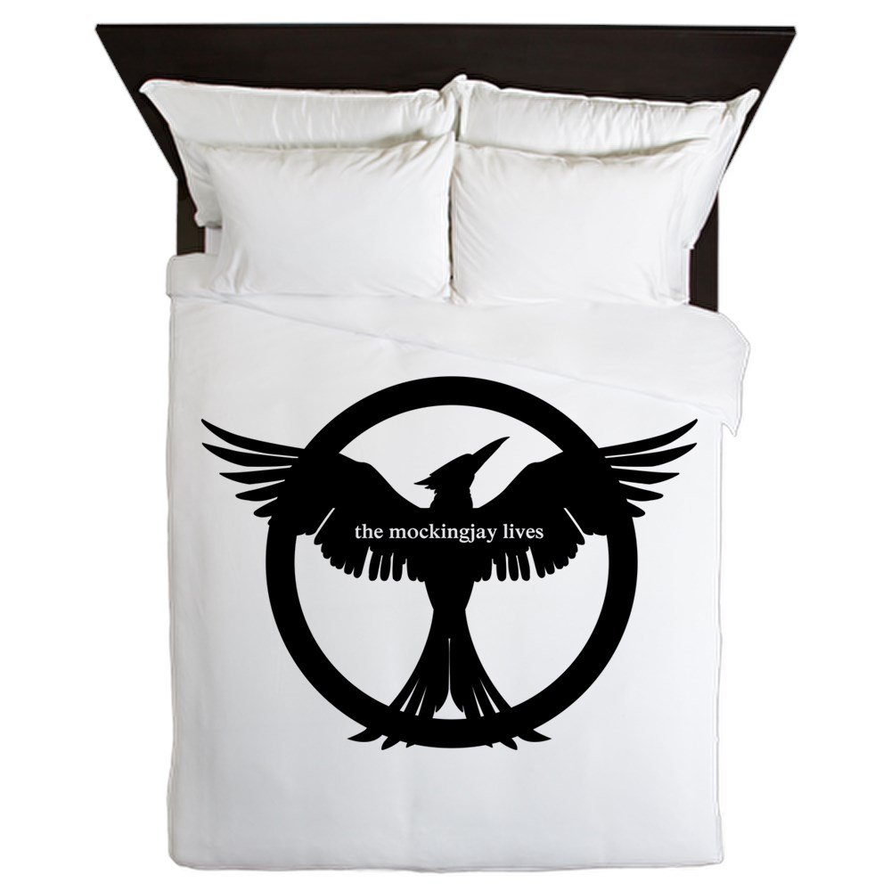 CafePress - The Mockingjay Lives - Queen Duvet Cover, Printed Comforter Cover, Unique Bedding, Microfiber