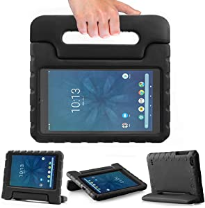 SIMPLEWAY Onn 8inch Kids Case, Lightweight Kid-Proof Handle Stand Cover Compatible with Walmart Onn 8inch Tablet (Model ONA19TB002) 2019 Released (Black)