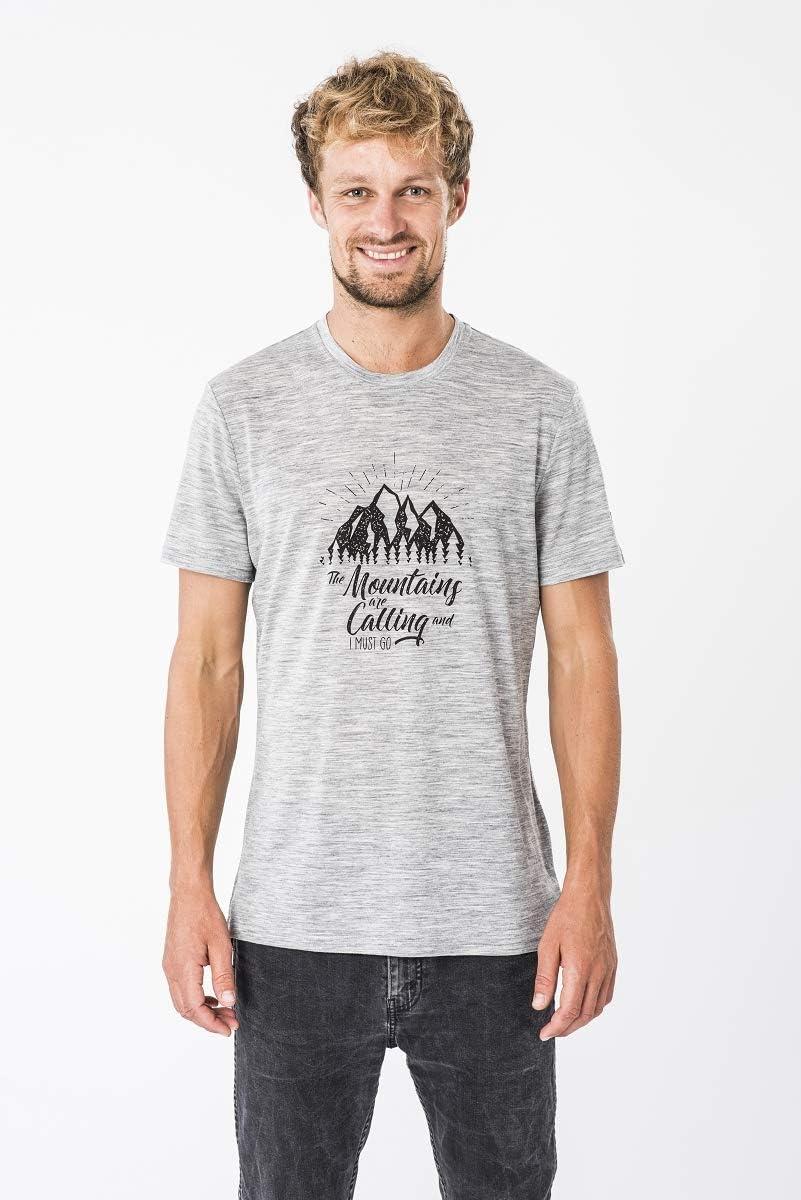 M GRAPHIC TEE super.natural Herren Kurzarm T-Shirt Mit Merinowolle