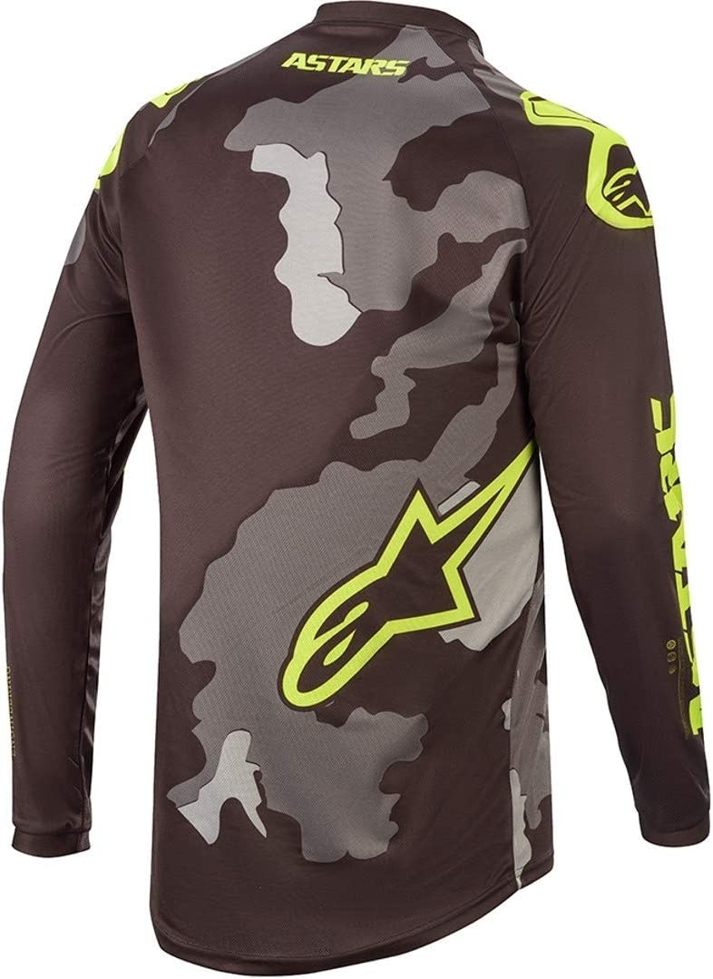 Alpinestars Kids Jersey Racer Tactical Schwarz//Grau Camo//Gelb Fluo
