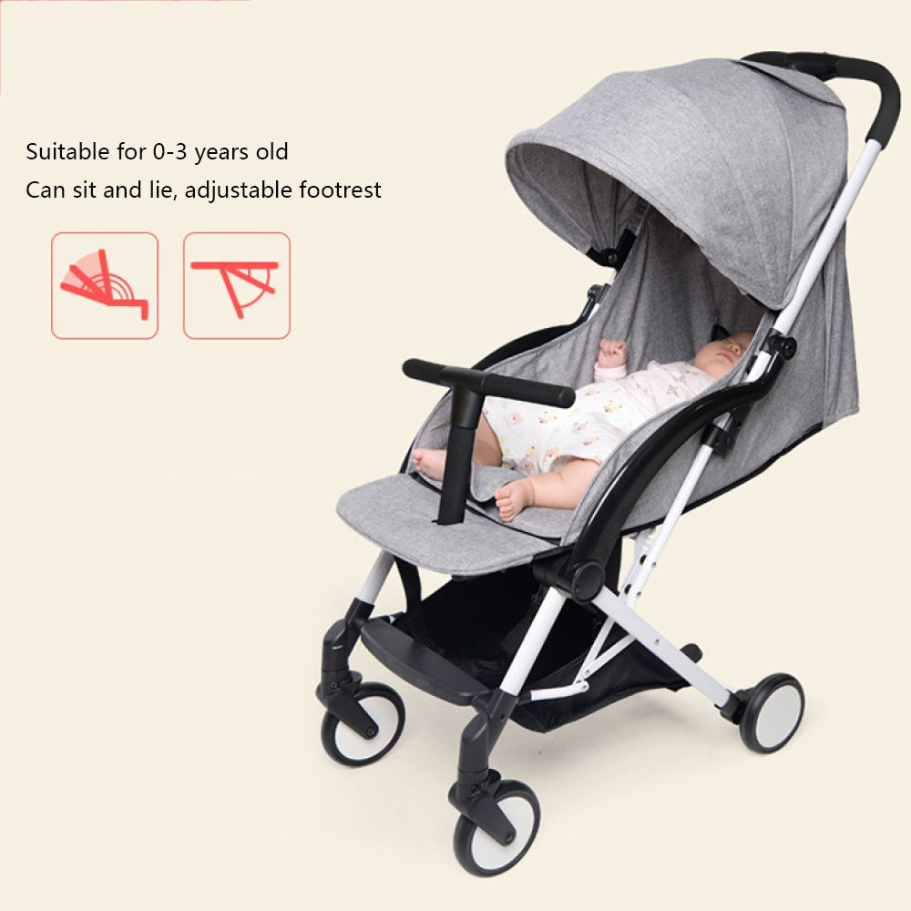 Amazon.com: QXMEI Baby Stroller Ultra-Light Portable Folding Baby Cart Summer Breathable Net Umbrella Car,G: Home & Kitchen