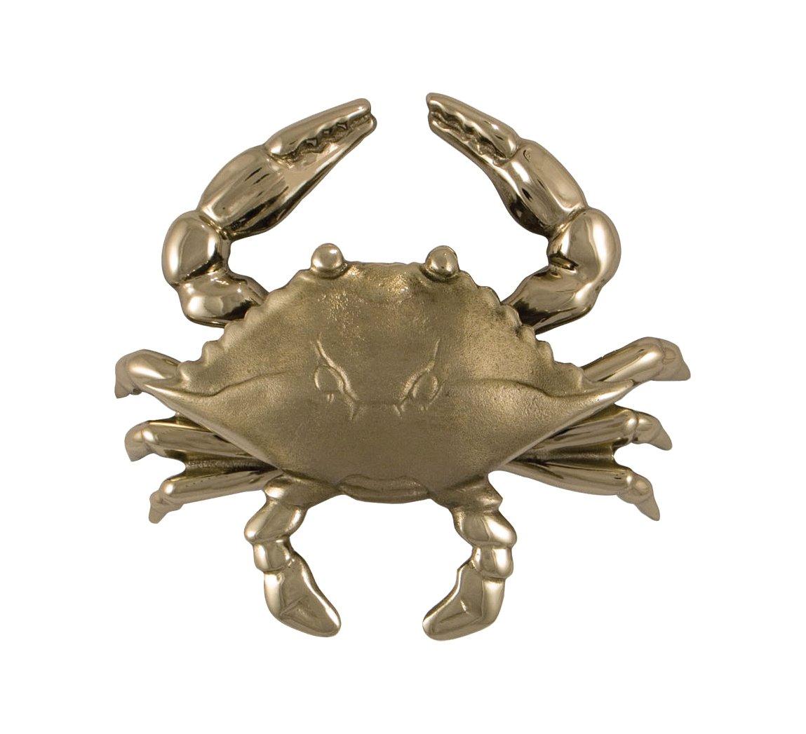 Blue Crab Door Knocker - Nickel Silver (Standard Size)
