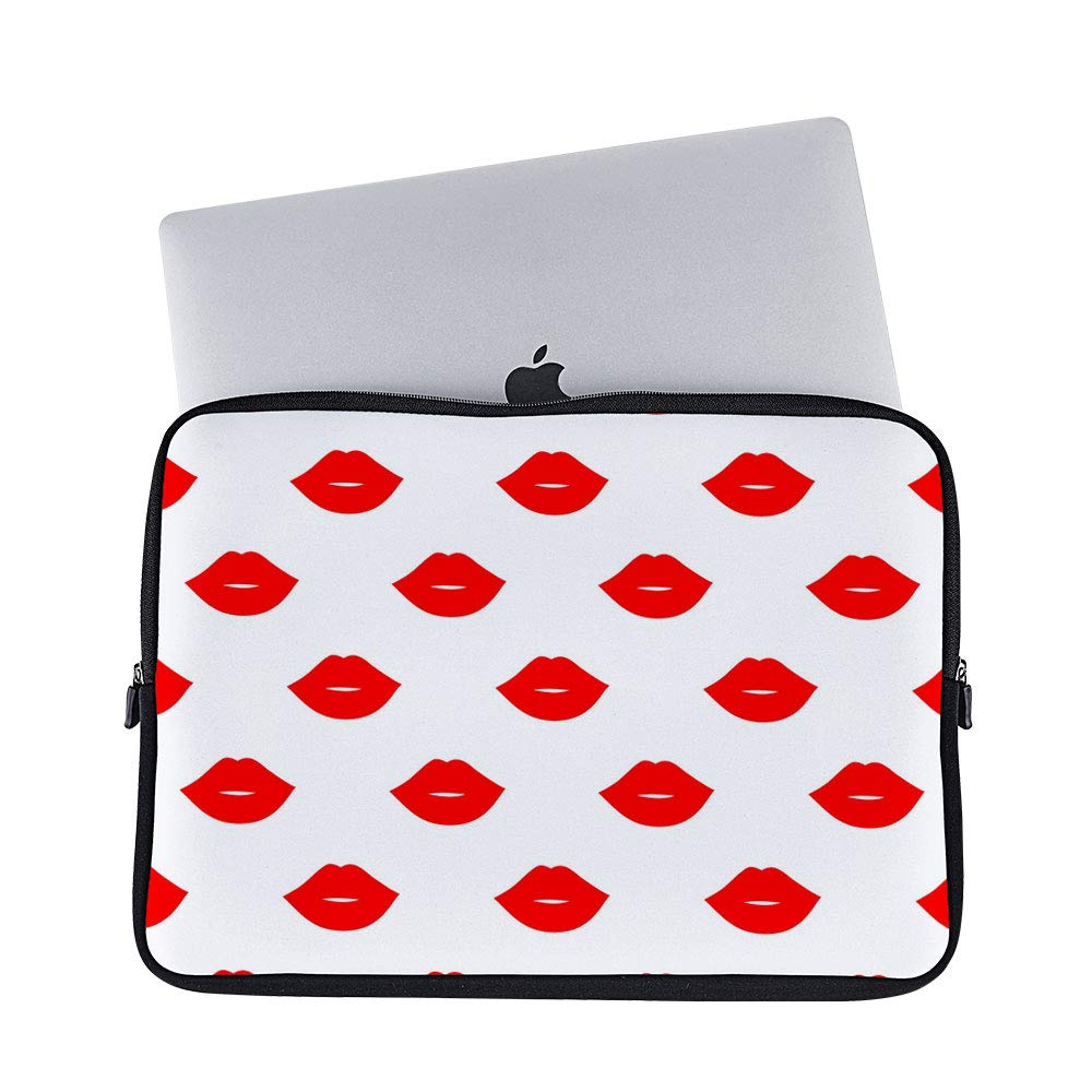 c3d31b334cd1 Amazon.com: DKISEE Abstract Red Lips Valentine Neoprene Laptop ...