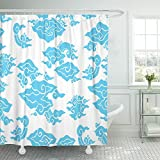 Emvency Indonesian Batik Painting of Indonesia Pattern Called Mega Men Dung Java Blue Abstract Asian Beautiful Waterproof Shower Curtain Curtains 72''X78'' Decorative Bathroom Odorless Eco Friendly