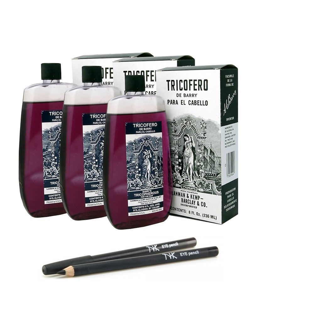 Amazon.com: Barrys Tricopherous liquid regular - 8 oz (3Pack) with NickK Pencil: Beauty