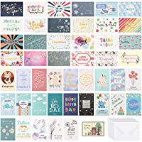 PartyKindom 48 All Occasion Greeting Cards Assortment with Envelopes, 7 Themes Birthday Cards, Baby, Wedding, Sympathy/Get Well Cards, Encouragement, Congratulation, Thank you Cards - 4 x 6 inch