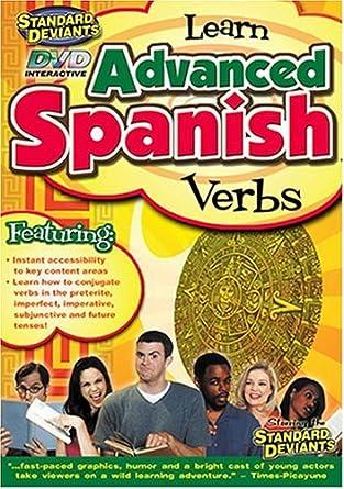 Amazon.com: The Standard Deviants - Learn Advanced Spanish - Verbs ...
