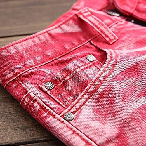 Denim Rot Jeans In lannister Retrò Confortevoli Pantaloni Skinny Uomo hop Qk Stretch Casual Morbido Ragazzo Hip Da nR4IFwaxq