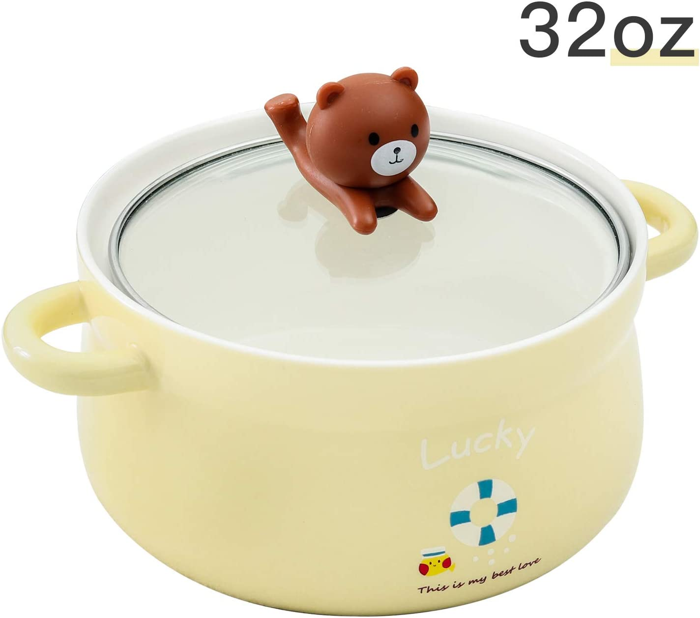 Line Friends Brown Noodle Ramen Bowl Stainless Steel Fruit Salad Container