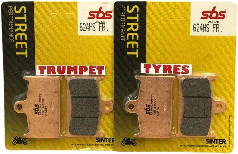 Triumph Rocket III 3 Roadster 2300 10 11 12 13 14 15 16 17 18 Front SBS Performance Fast Road Sinter Sintered Brake Pads Set OE Quality 624HS