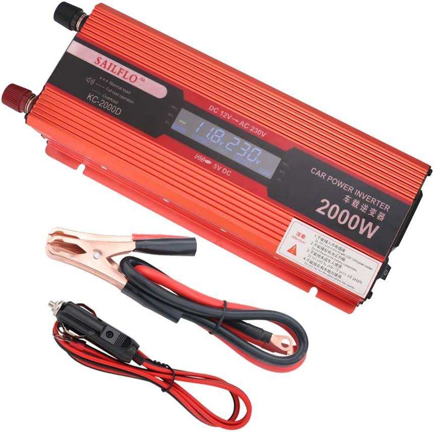 Ukc Voltage Converter Dc 12 V Ac 220 V 2000 W Usb Konverter Converter Auto