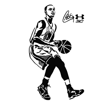 Fangeplus R DIY Removable Stephen·Curry Art NBA Basketball Player Star Mural Vinyl Waterproof Wall