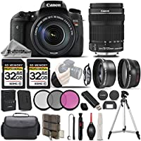 Canon EOS Rebel T6s Camera + Canon EF-S 18-135mm f/3.5-5.6 IS STM Lens + 0.43x Wide Angle Lens + 2.2x Photo Professional Telephoto HD Lens - All Original Accessories Included - International Version