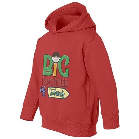 Societee Big Brother of Twins Girls Boys Toddler Hooded Sweatshirt