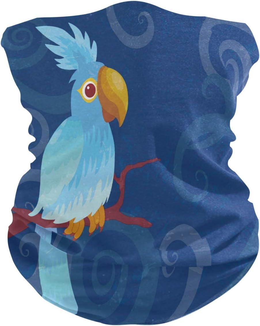 BEUSS Pájaros Carpinteros Azul Balaclava Moto 3D Pañuelo Bandana Máscara de Protección UV para Senderismo al Aire Libre Ciclismo niños Niñas Adultos
