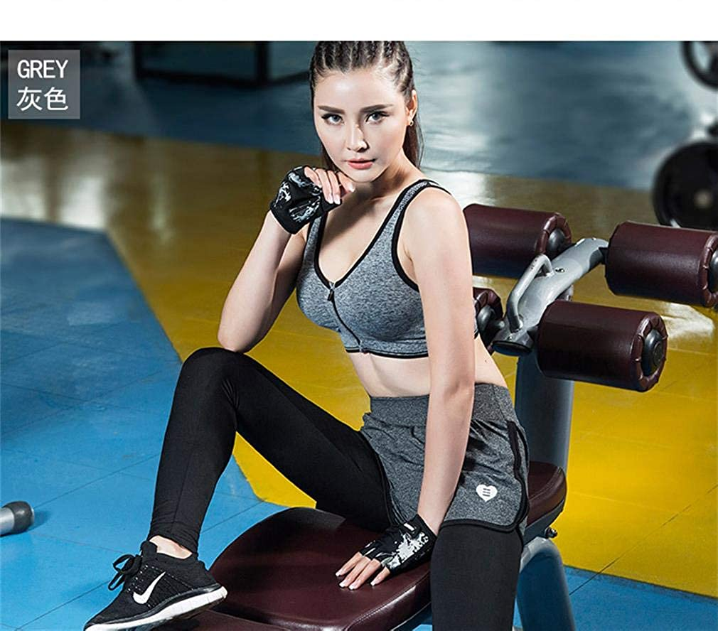 DODOING Women Sports Bras with Zipper Front Racerback Bra Wirefree Padded Pushup Support