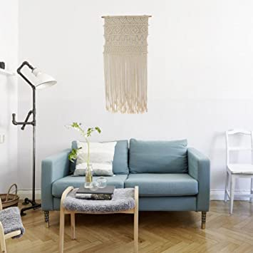 Macrame Murale Decoration Suspension Macrame Tenture Murale 50 X 90