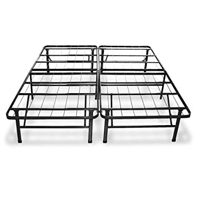Best Price Mattress New Innovated Box Spring Platform Metal Bed Frame / Foundation, King
