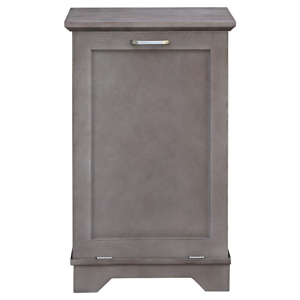 Threshold Home Furnishings Laundry Tilt Out Wood Hamper - Gray
