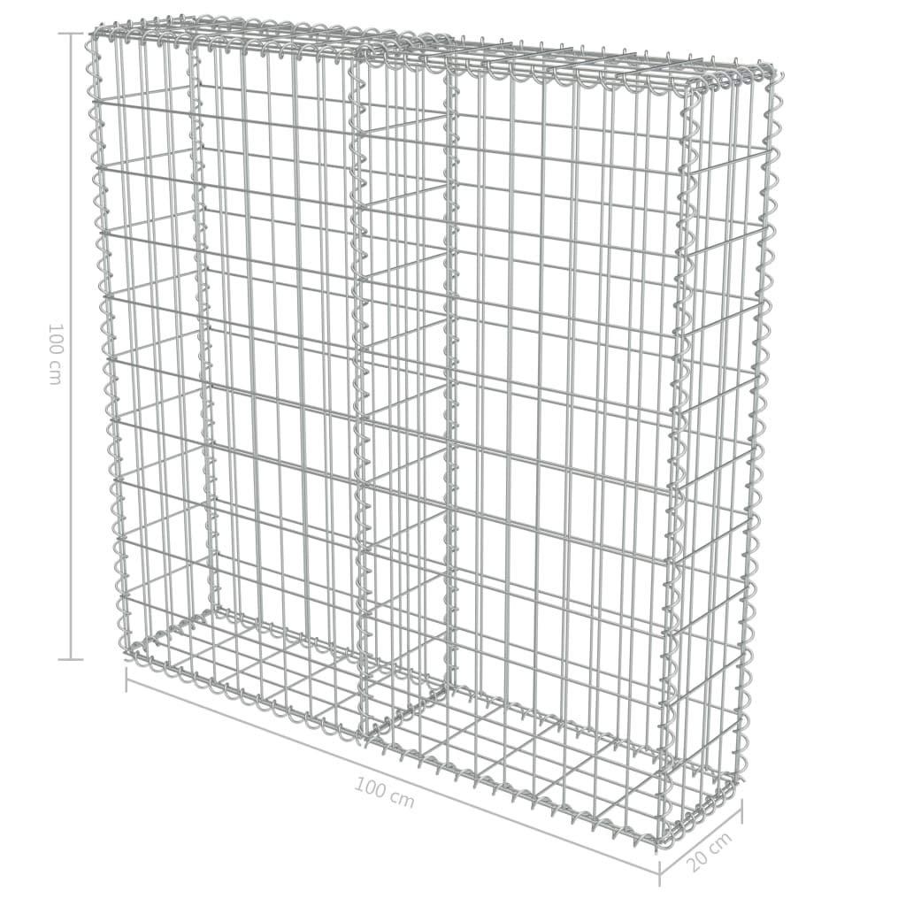 Tidyard Outdoor Gabion Wall Fence Stone Basket Galvanized Steel 39.4x7.87x39.4