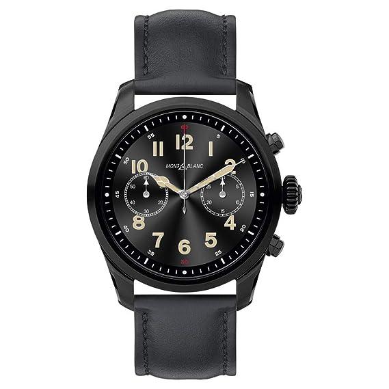 Reloj Montblanc Summit 2 Smartwatch 119438 Acero Negro Piel Negra: Amazon.es: Relojes