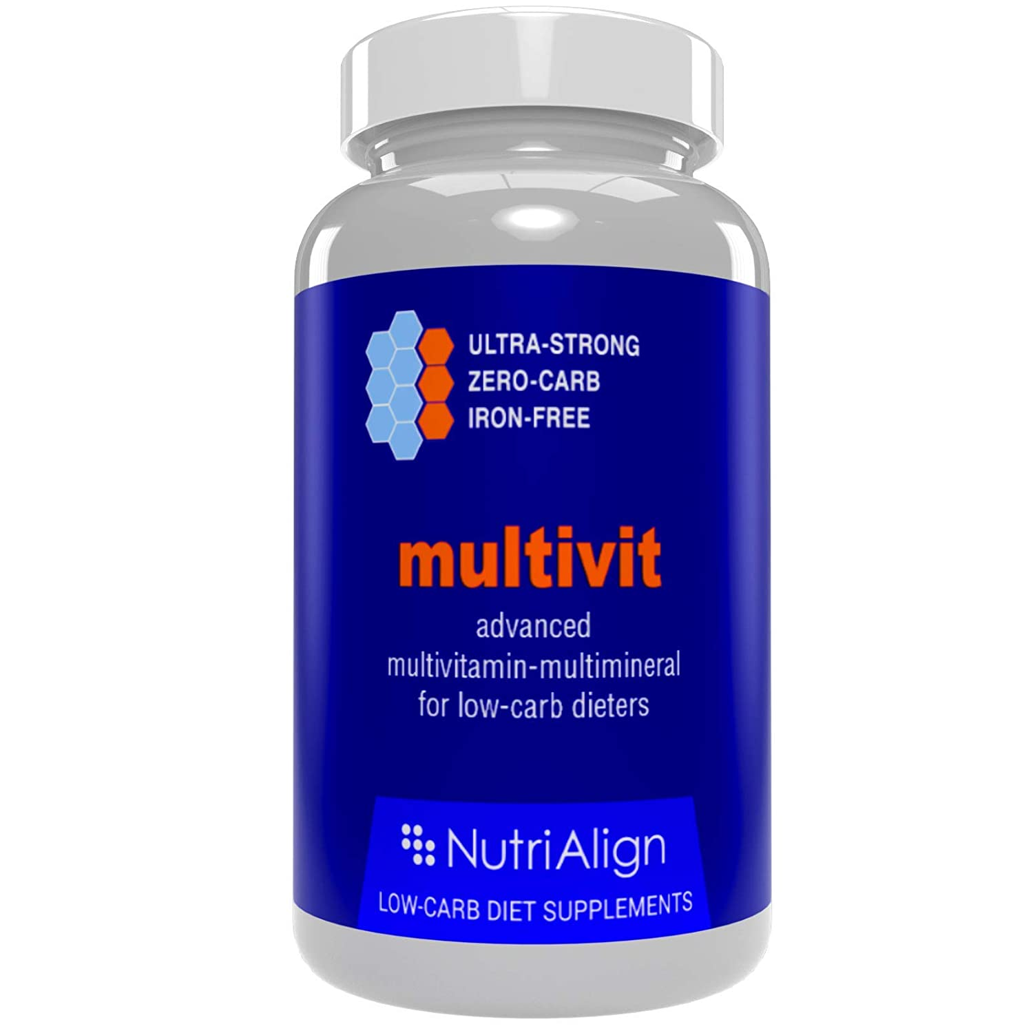 Low-Carb Diet Multivitamins. Optimas para la Atkins, Cetogénica y dietas similares bajas en carbohidratos.