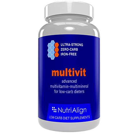 Low-Carb Diet Multivitamins. Optimas para la Atkins, Cetogénica y dietas similares bajas