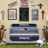NFL New England Patriots Love Seat Reversible Furniture Protector with Elastic Straps, 75-inches by 88-inches