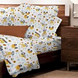 Safdie & Co. 38338.3T.02 Sheet Set Juvenile 3PC T Under Construction, Twin, Multi