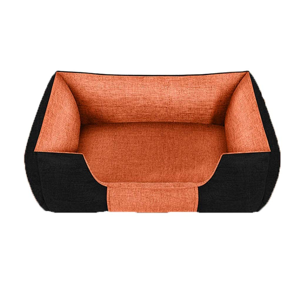 L Hxyan Dog Bed Cat Bed Pet Bed Small Medium Size Large Removable And Washable Linen Texture Fabric Four Seasons Universal (Size   L)