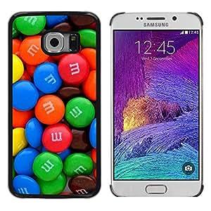 Rot - Metal de aluminio y de plástico duro Caja del teléfono - Negro - Samsung Galaxy S6 EDGE (NOT S6)