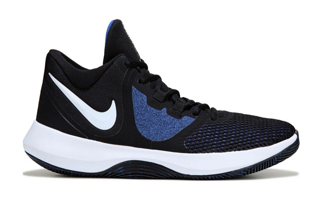 Nike Hombre Air Precision II Basketball Blanco / Negro
