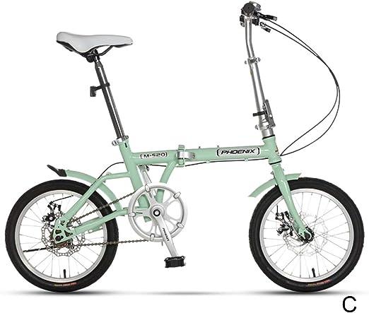 Bicicletas Sola Velocidad Estudiante Niño Niña Adulto Ligera 16 Pulgadas (Color : C, Size : 16inches): Amazon.es: Hogar