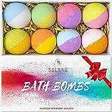 Selene Bath Bombs For Kids, Women (8 Pack) - Best Bath Bomb Gift Set Idea for Relaxing Holiday, Birthday, Girlfriend
