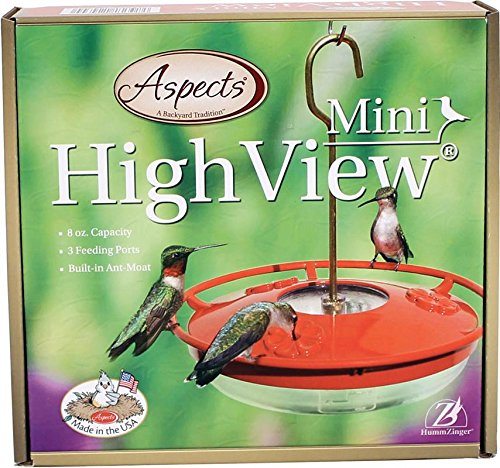 Aspects 430 Hummzinger 8 oz Mini High View Hummingbird Feede
