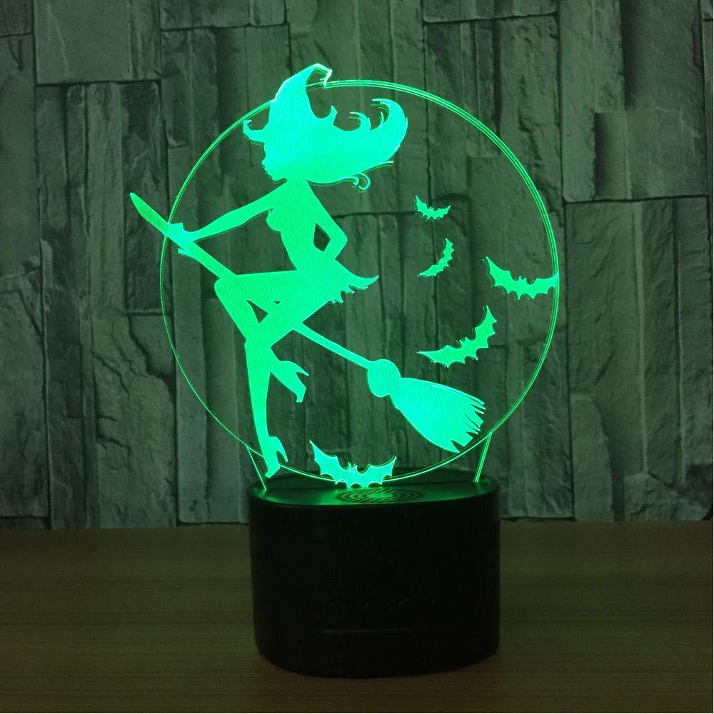 Lámpara 3d Led Nocturnas Visual 7 Luces De Color Bruja QdCWErBoex