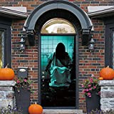 DICPOLIA Decoration Halloween Haunted House Decor Window Door Cover Sticker Zombie Hand 78X30 Inches (Multicolor)