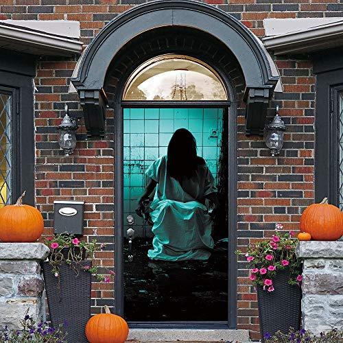 Hot Sale!UMFun Halloween Haunted House Decor Window Door