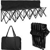 Giantex Portable 6 Seats Folding Chair Bench Outdoor Sports Camping W/Carrying Bag