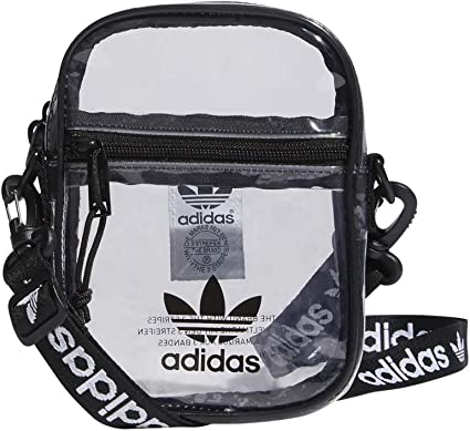 Matón Regenerador al menos  Amazon.com: adidas Originals Unisex Clear Festival Crossbody Bag, Black,  ONE SIZE: Clothing